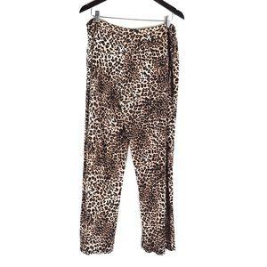 Soma Leopard Print Pajama Sleep Pants